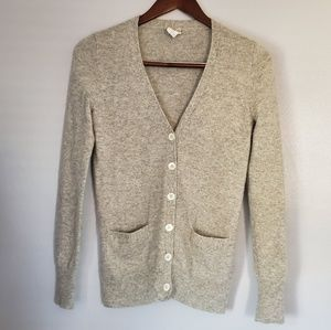 J.crew cashmere button up cardigan